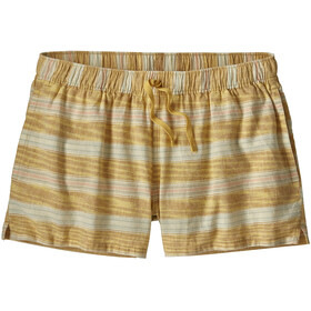 Patagonia Island Hemp Short ample Femme, tarkine stripe small/surfboard yellow